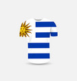 mens t-shirt icon and uruguay flag vector image vector image