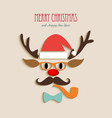 Merry Christmas reindeer cartoon vector image