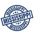 mississippi blue round grunge stamp vector image vector image