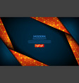 modern tech blue combine with orange background vector image vector image