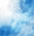 nature background blue sky and sun vector image vector image