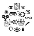 ophthalmologist icons set simple style vector image vector image