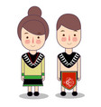 papua province wedding couple cute indonesian vector image vector image