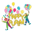 Purim hand drown background vector image