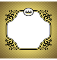 queen frame gold vector image vector image