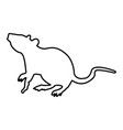 rat black color icon vector image