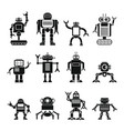robots set in cartoon flat design vector image vector image