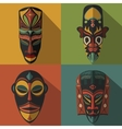 Set of African Ethnic Tribal masks vector image
