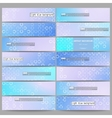 Set of modern banners Abstract white circles on vector image vector image