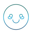 smiling face icon vector image vector image