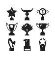 Sports awards black silhouette vector image vector image