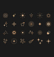 stars line art icon gold star for logo vector image vector image