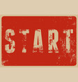 start typographical vintage style grunge poster vector image vector image