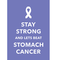 stomach cancer poster vector image vector image