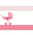 stroller vector image vector image
