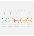 Timeline Infographic colorful hanging circles vector image vector image