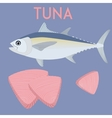 Tuna fish and tuna steaks Cool vector image vector image