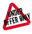 under offer only rubber stamp vector image vector image
