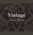 vintage wallpaper royal ornament elegant vector image vector image
