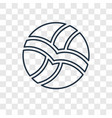 volleyball concept linear icon isolated on vector image