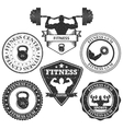 set of logos fitness vector image