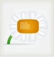 Flower label Background vector image