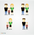 family colorful cartoot icon set vector image