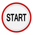 icon with the word START vector image