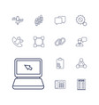 13 communication icons vector image vector image