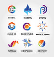 abstract colorful business logo set sign symbol vector image vector image