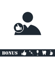 Avatar like icon flat vector image vector image