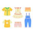 baby clothes collection poster vector image
