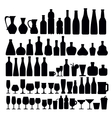 beverage and glass icons vector image vector image