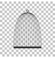 Bird cage sign Dark gray icon on transparent vector image vector image