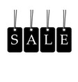 black and white price tag hang from rope big sign vector image vector image