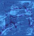 blue damaged wall vector image vector image