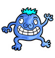 blue puppet vector image vector image