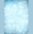 blue snow background vector image vector image