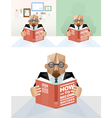 Businessman reading a book concept vector image