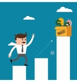 Businessman steps bars icon graphic vector image vector image