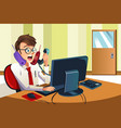 busy businessman on the phone vector image