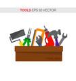 cartoon tool box repair and carpentry tools vector image vector image