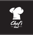 chef hat graphic design template isolated vector image vector image