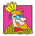 Chicken man vector image vector image