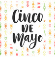 cinco de mayo mexican holiday poster vector image vector image