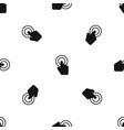 click pattern seamless black vector image vector image