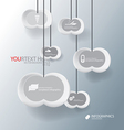 cloud for Abstract business infographic background vector image