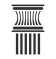 column icon architectural building decor vector image vector image