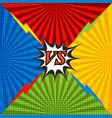 comic confrontation bright background vector image