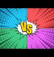 comic versus bright composition vector image vector image